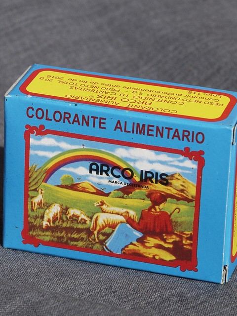 10 Sachet Box with food coloring (Arco Iris brand)