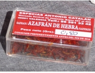 Box of 0.8 grams of saffron strands