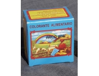 Box of 25 food coloring sachets (Arco Iris brand)